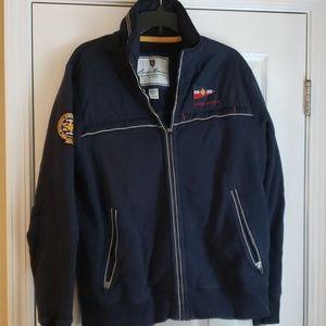 Navy blue medium weight coat